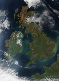 Satellite Image of the British Isles (excluding ) and part of northern