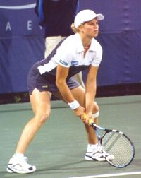 Clijsters at the 2002 US Open
