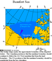 Approximate area of the Beaufort Sea, and the disputed waters