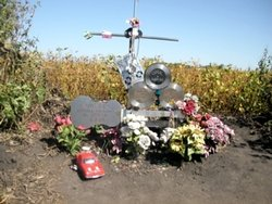 Monument at Crash Site, September 16, 2003