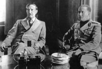 King Zog (left) with Italian Count Ciano, 1937