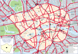 The Congestion Charge applies to drivers within the .