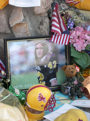 Memorial to Pat Tillman has been created at Sun Devil Stadium, where he played football for the Sun Devils and the Cardinals.