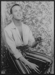 Harry Belafonte in Almanac, photographed by , 1954