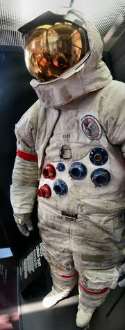 Dave Scott's space suit on display at the