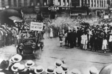 """The New Negro Has No Fear"" — supporters of Marcus Garvey parade in Harlem during the U.N.I.A. convention in 1920"