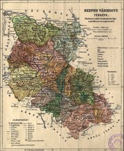 Map of Spis county in 1910