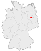 Map of Potsdam in Germany