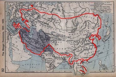 Mongol Empire in 1300–1405.