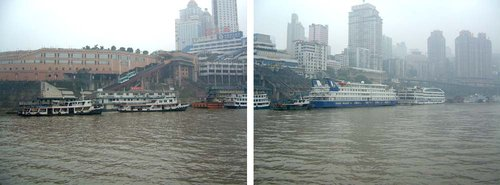 Chongqing waterfront on the Jialing. See the  article for some details