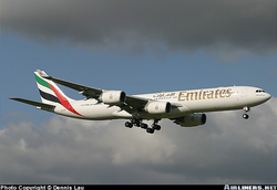Emirates  at London Gatwick Airport, taken by Dennis Lau