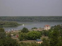 Panoramic view of a Danube from `s Kalemegdan