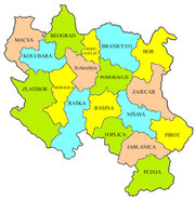 Sumadija District in Central Serbia