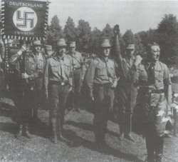 Hitler addressing SA members in the late 1920s