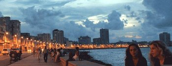 Dusk on Havana's waterfront