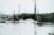 Flooding in Asheville, North Carolina in July 1916