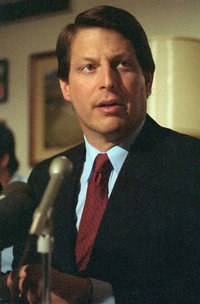 Al Gore speaks during a  in the .