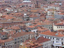 View over the roofs of Venice from .