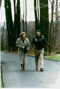 Thatcher and President Reagan at .