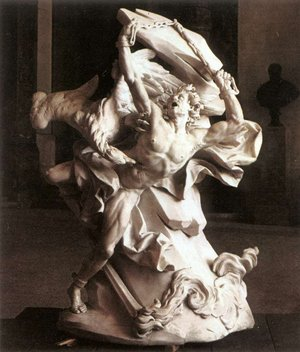 in Chains by , marble, 1737.