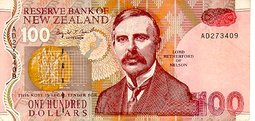 Lord Rutherford of Nelson on the New Zealand 100  note
