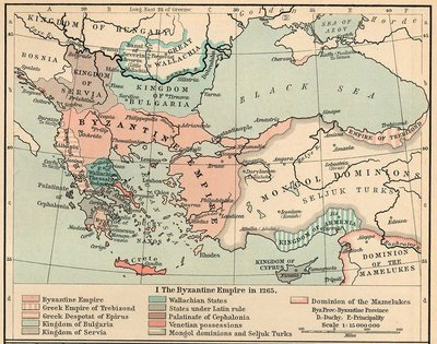 The Byzantine Empire in  (William R. Shepherd, Historical Atlas, )