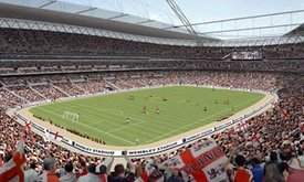 Computer generated image of New Wembley Stadium(2006)
