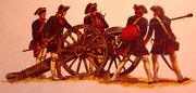 Continental Artillery crew from the American Revolution