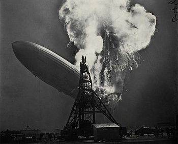 The Hindenburg burning