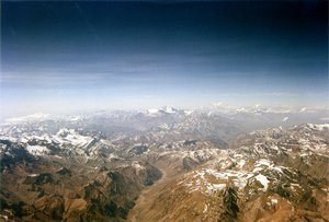 The Andes between  and