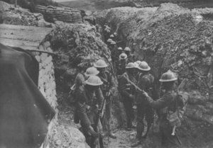 British communication trench, Somme, 1916
