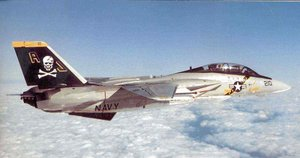 An F-14A of , in the old color scheme from the beginning of its service.