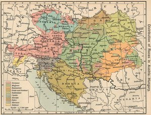 Distribution of nationalities within Austria-Hungary, according to the 1910 census