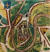 A map of the city from 1610