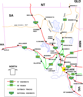 South Australian cities, towns, settlements and