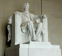 At the , Washington DC, Lincoln's seat of state bears the fasces on the fronts of its arms