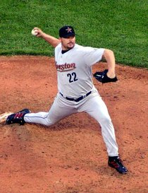 Roger Clemens pitching for the Houston Astros in 2004, his first season in the National League
