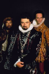 The second series of Blackadder was set in  , starring (left to right)  as ,  as Edmund, , and  as .