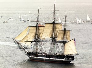 USS Constitution under sail in , ,