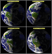 Illumination of the earth during various seasons