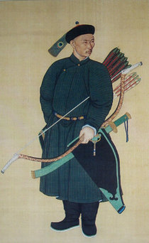 One of the 's Manchu bodyguards (1760)