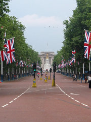 The Mall, looking towards Buckingham Palace