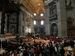 �Two million people reportedly viewed Pope John Paul II's body lying in state.