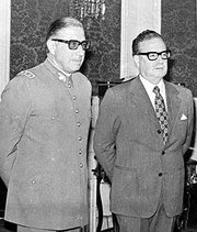 Pinochet (left) and Allende in 1973