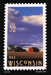Wisconsin became a state in 1848