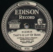"Edison Records ""Diamond Disc"" label, early 1920s"