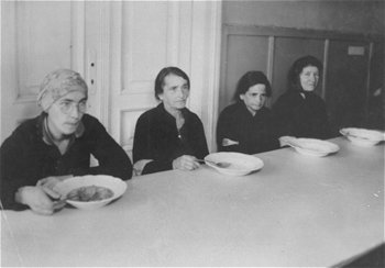 A soup kitchen for women in the Warsaw Ghetto