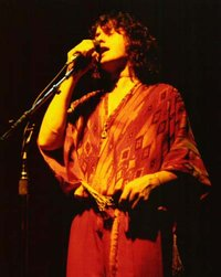 Jon Anderson performing in concert with Yes in 1977