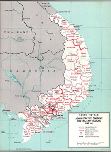 Map of South Vietnam