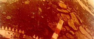 Color image taken from the surface of Venus by the Soviet Venera 13 lander
